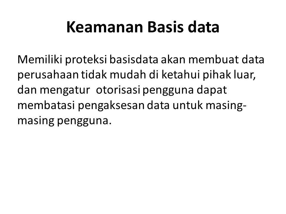 Keamanan Basis data