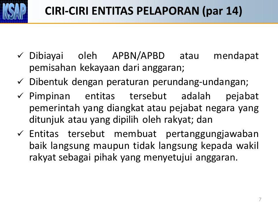 CIRI-CIRI ENTITAS PELAPORAN (par 14)