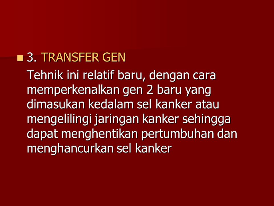 3. TRANSFER GEN