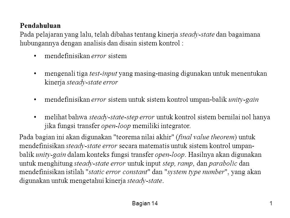 mendefinisikan error sistem