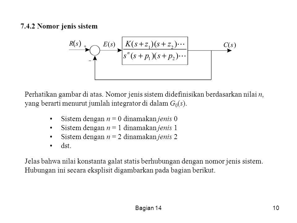 Sistem dengan n = 0 dinamakan jenis 0