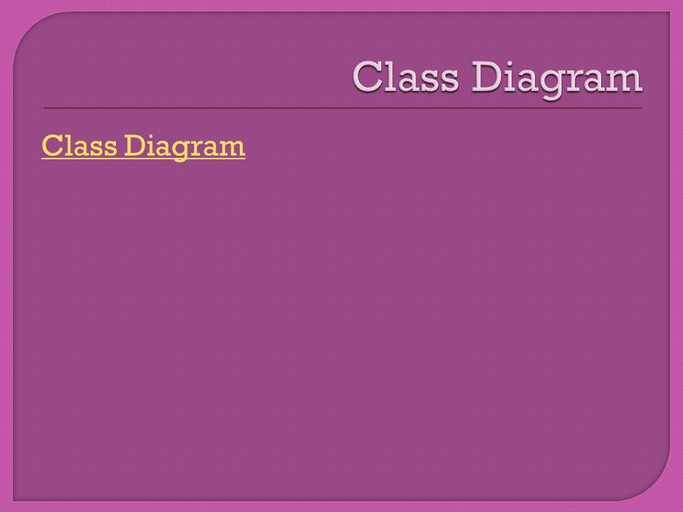 Class Diagram Class Diagram
