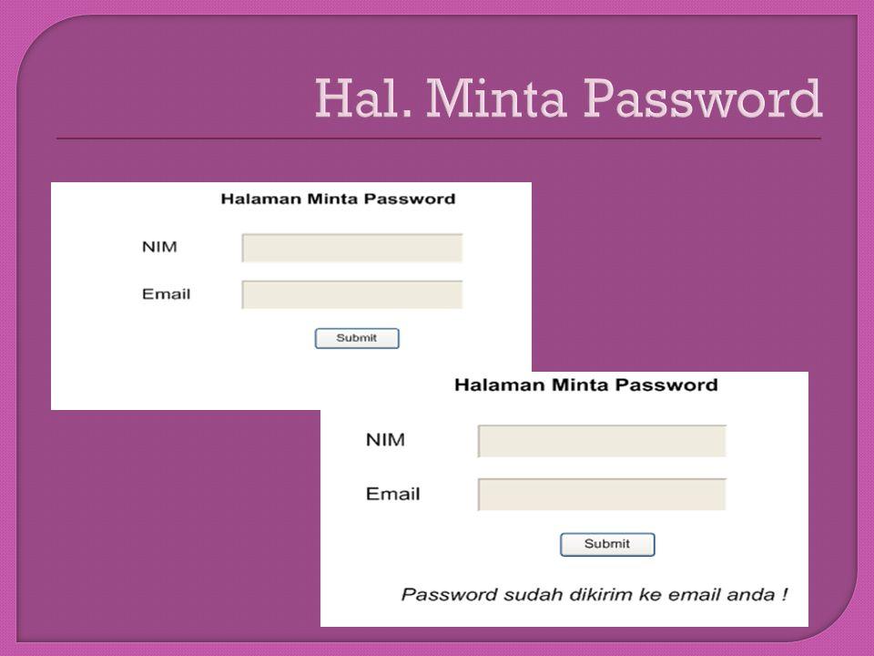 Hal. Minta Password