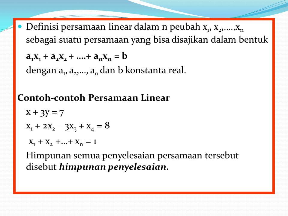 a1x1 + a2x2 + ….+ anxn = b x1 + x2 +…+ xn = 1