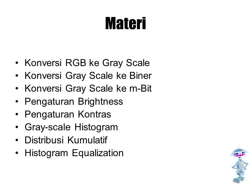 Materi Konversi RGB ke Gray Scale Konversi Gray Scale ke Biner