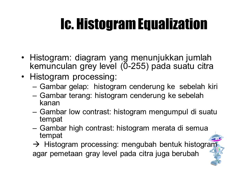 Ic. Histogram Equalization