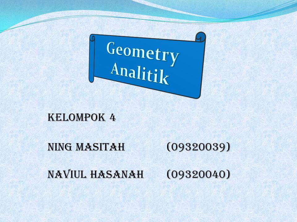Geometry Analitik Kelompok 4 Ning masitah (09320039)