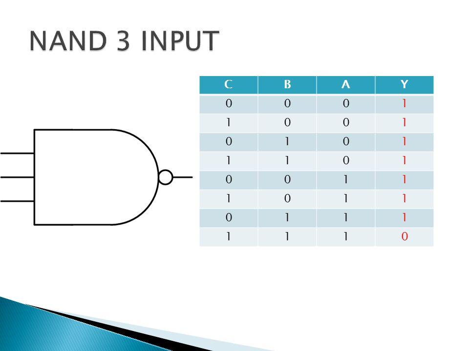 NAND 3 INPUT C B A Y 1