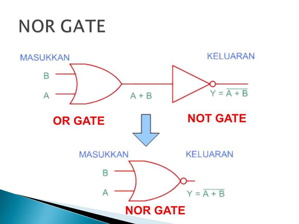NOR GATE NOT GATE OR GATE NOR GATE
