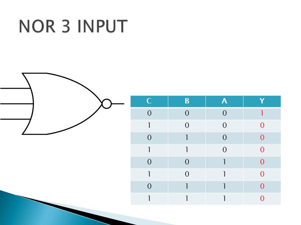 NOR 3 INPUT C B A Y 1