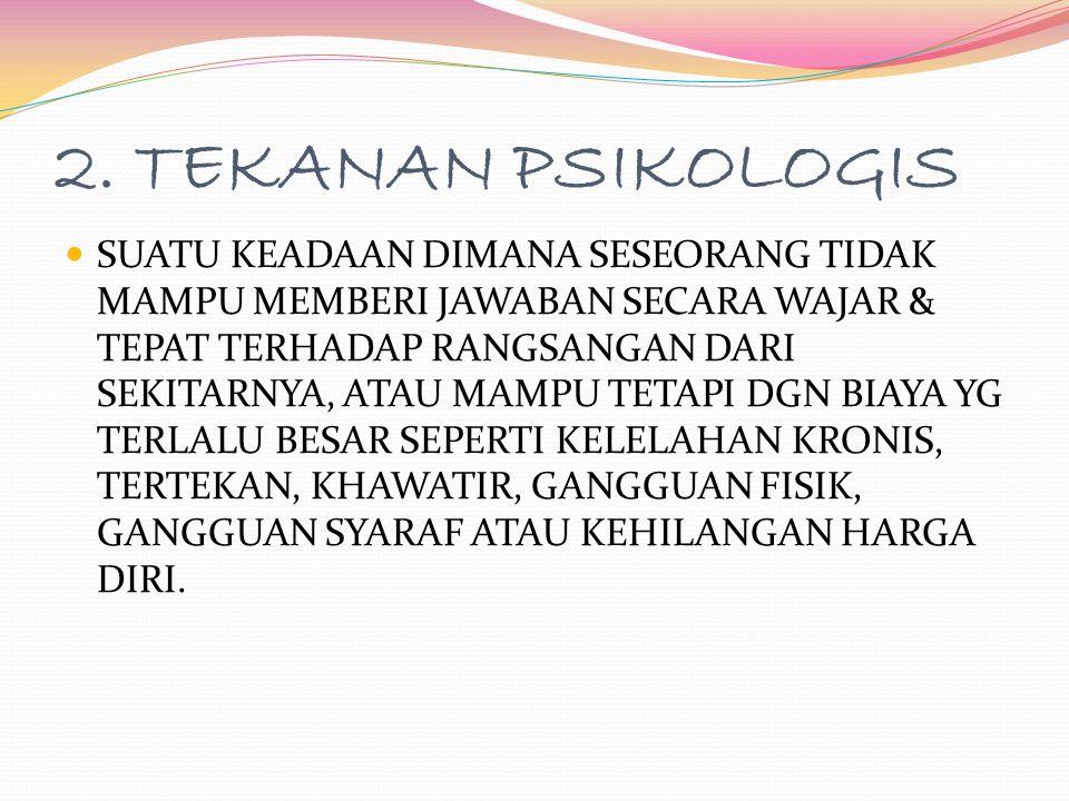 2. TEKANAN PSIKOLOGIS