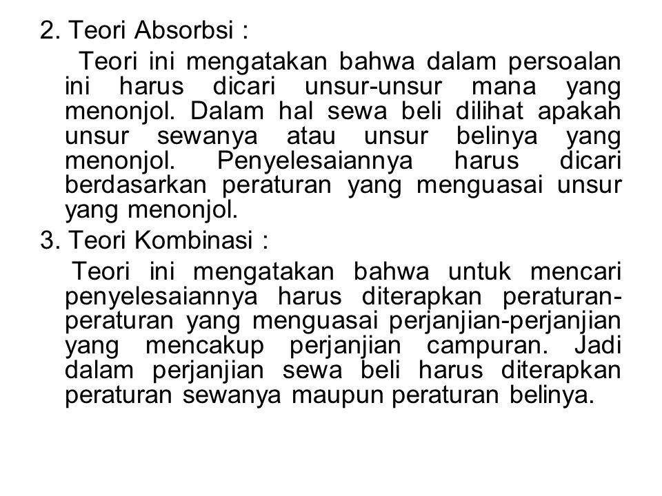 2. Teori Absorbsi :