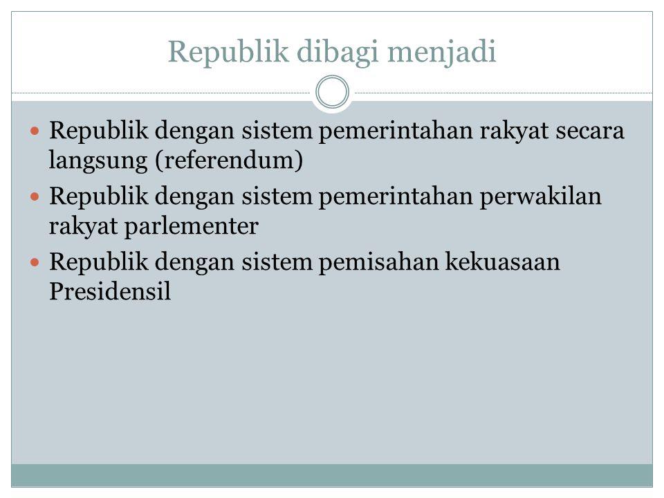 Republik dibagi menjadi