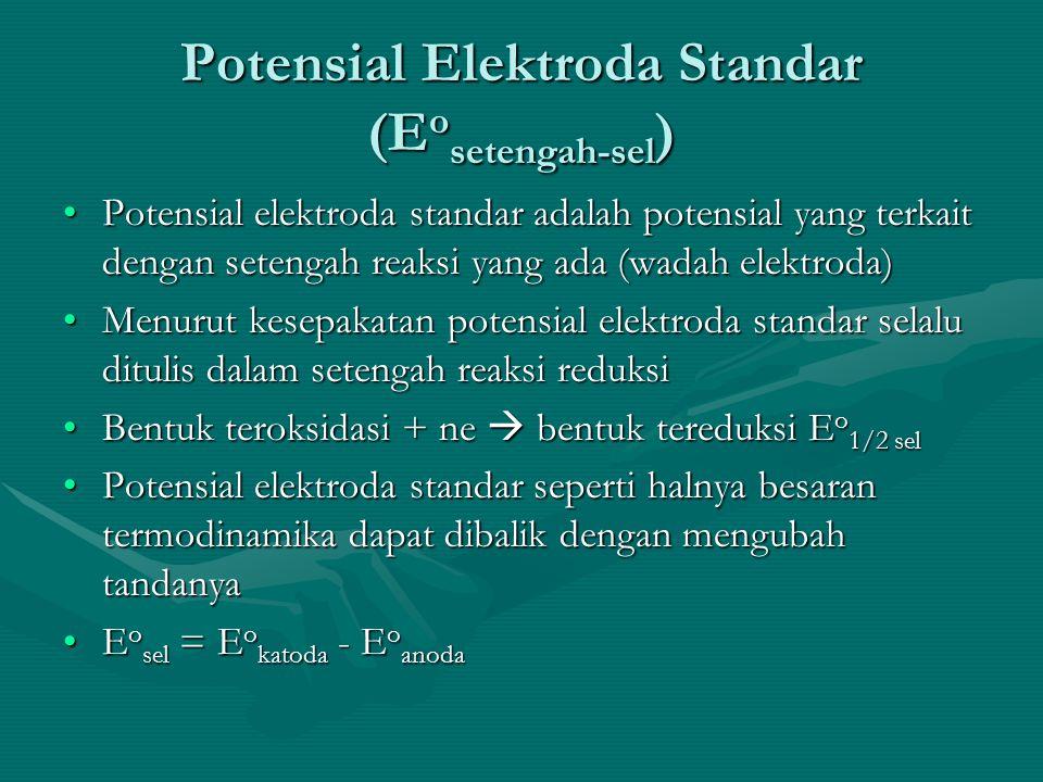Potensial Elektroda Standar (Eosetengah-sel)