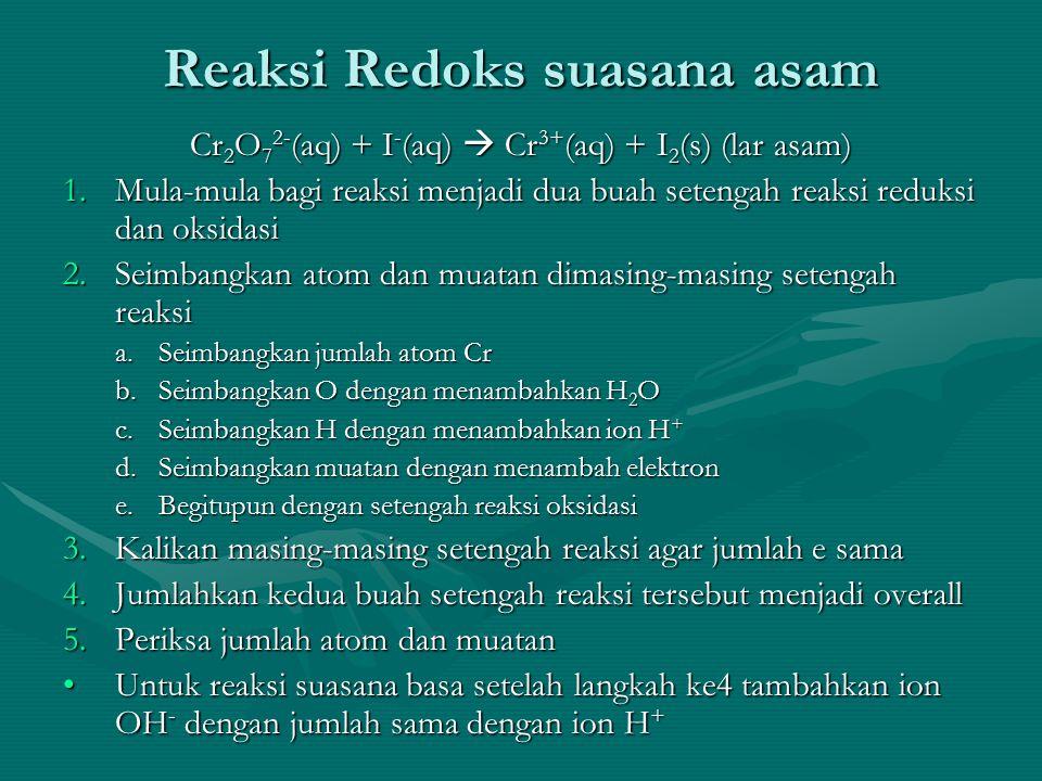 Reaksi Redoks suasana asam