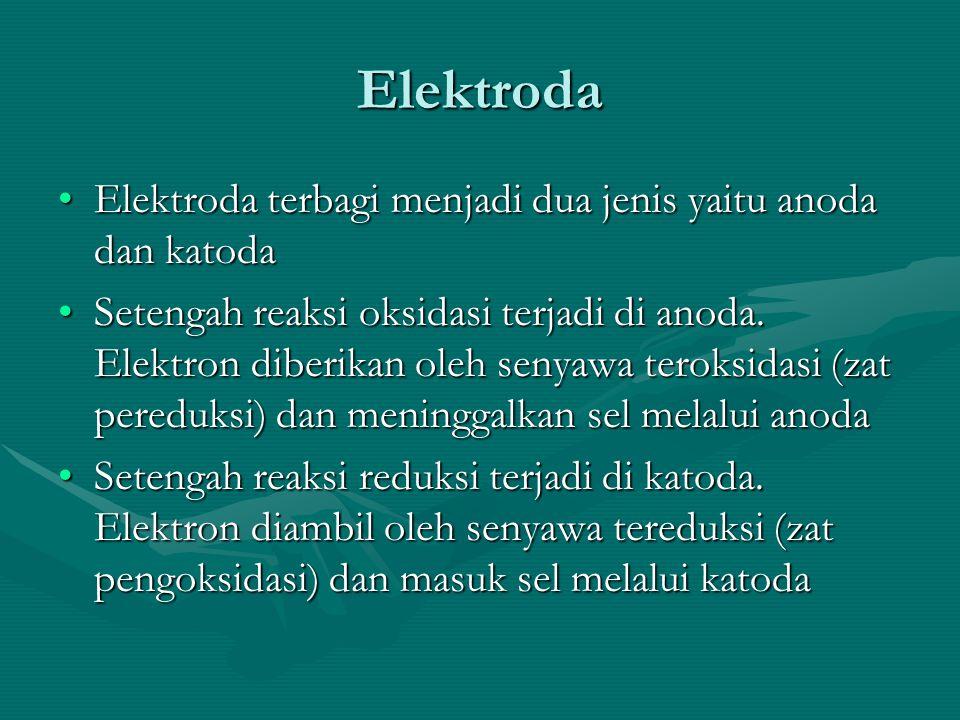 Elektroda Elektroda terbagi menjadi dua jenis yaitu anoda dan katoda