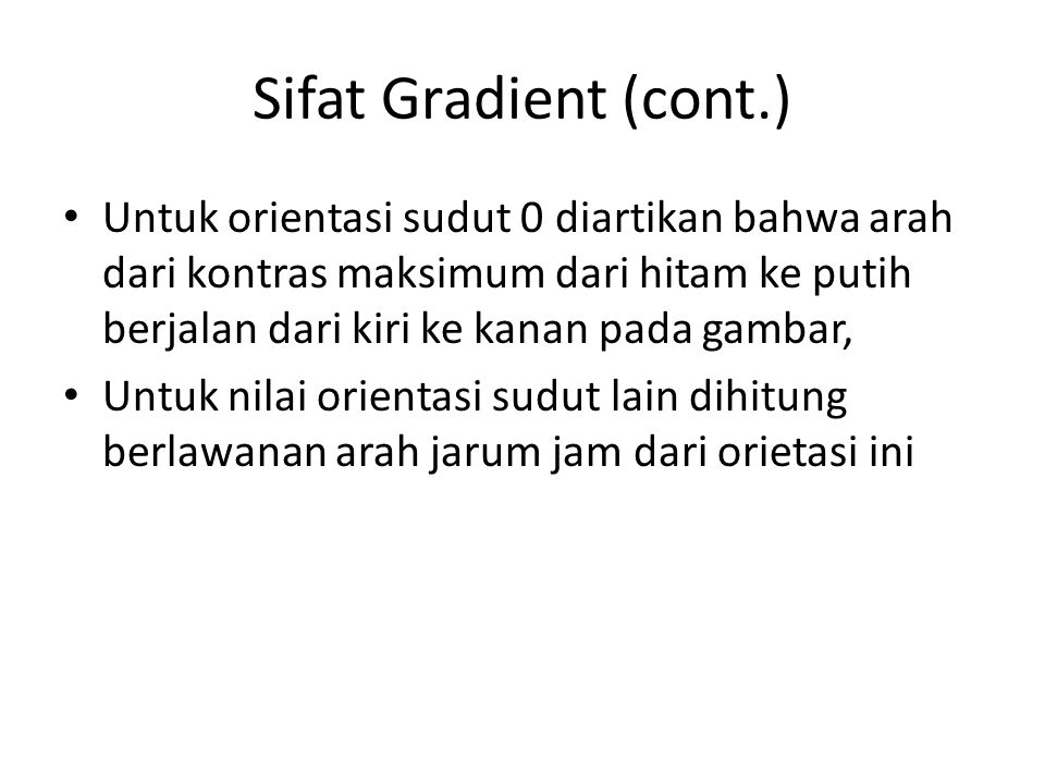 Sifat Gradient (cont.)