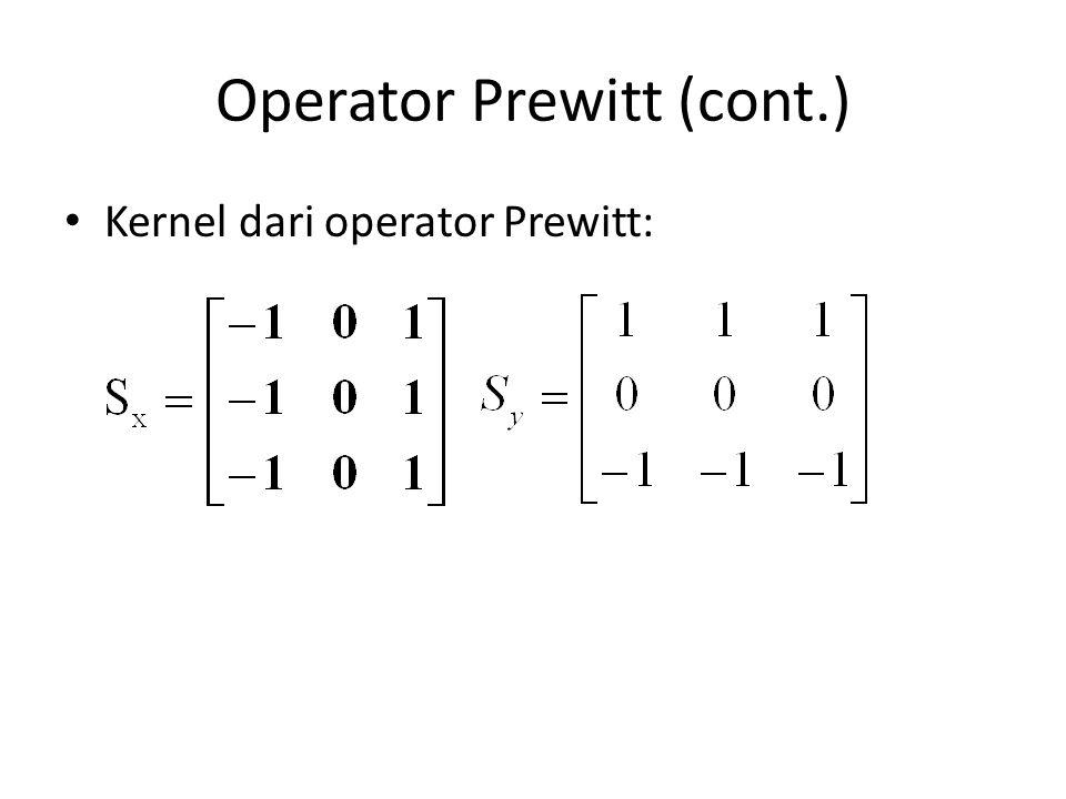 Operator Prewitt (cont.)