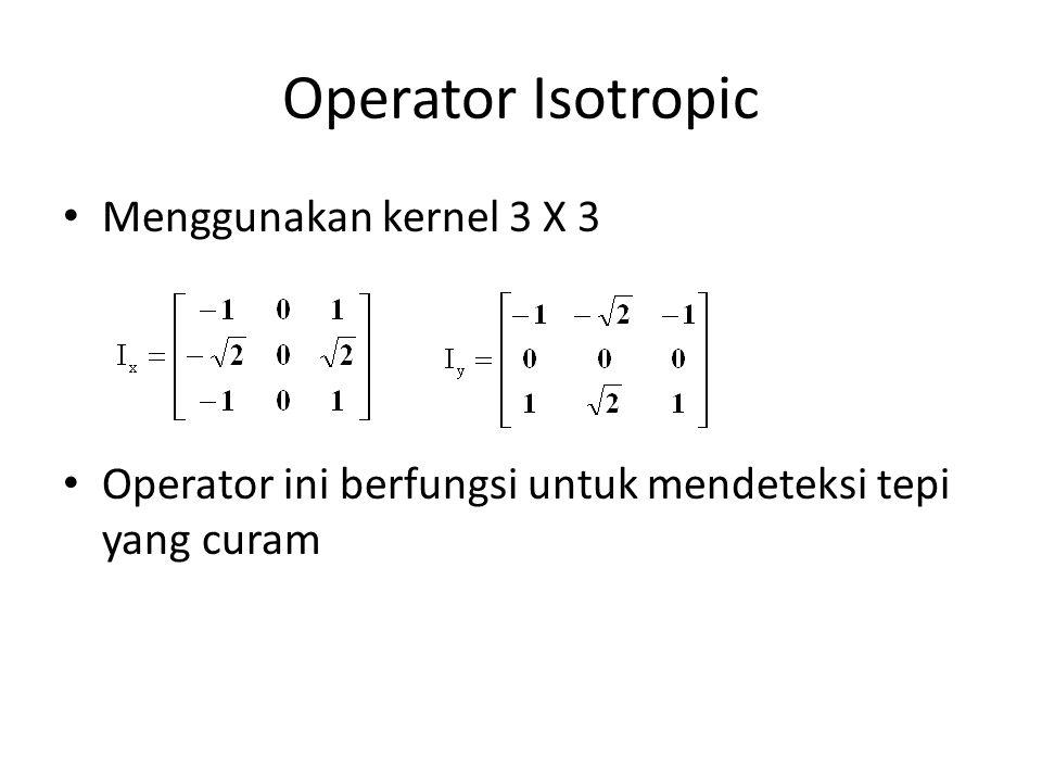 Operator Isotropic Menggunakan kernel 3 X 3