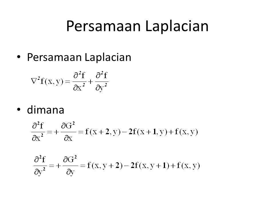 Persamaan Laplacian Persamaan Laplacian dimana