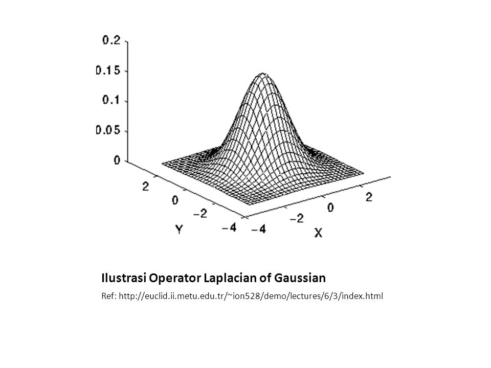 Ilustrasi Operator Laplacian of Gaussian