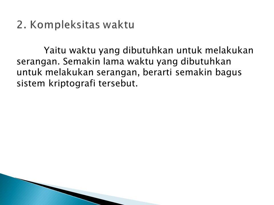 2. Kompleksitas waktu