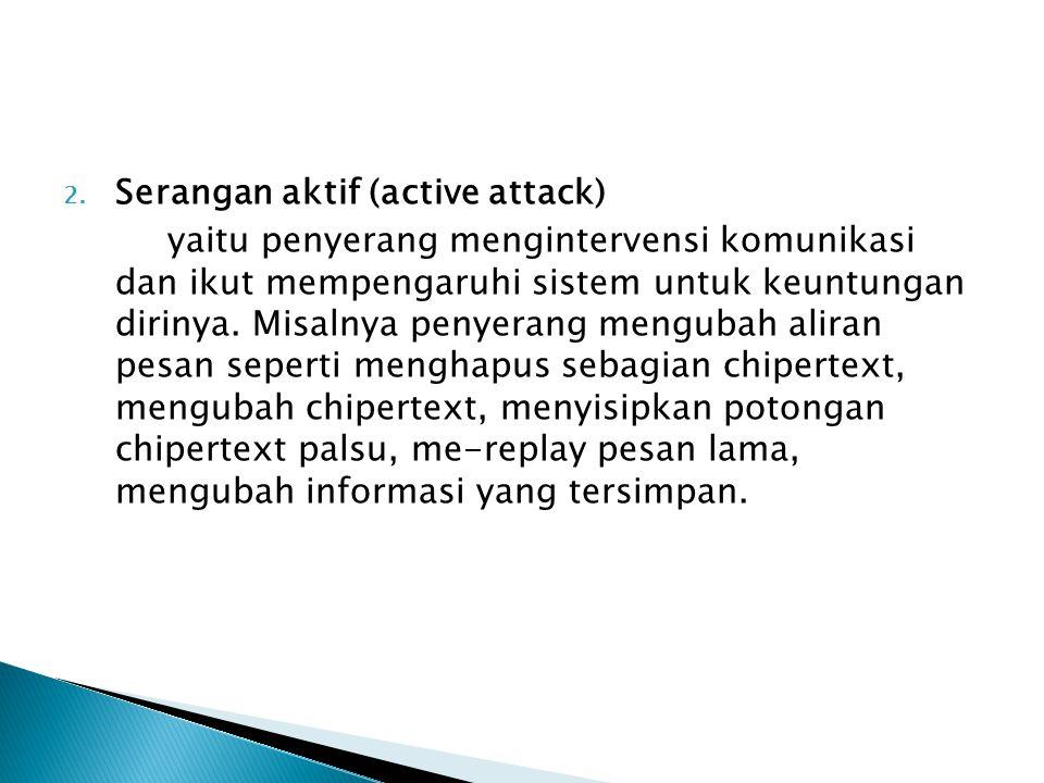 Serangan aktif (active attack)