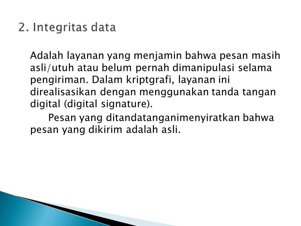 2. Integritas data
