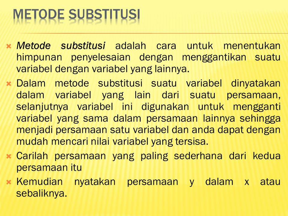 Metode substitusi