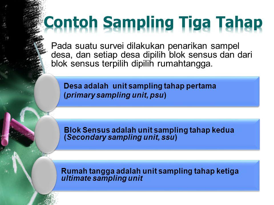 Contoh Sampling Tiga Tahap