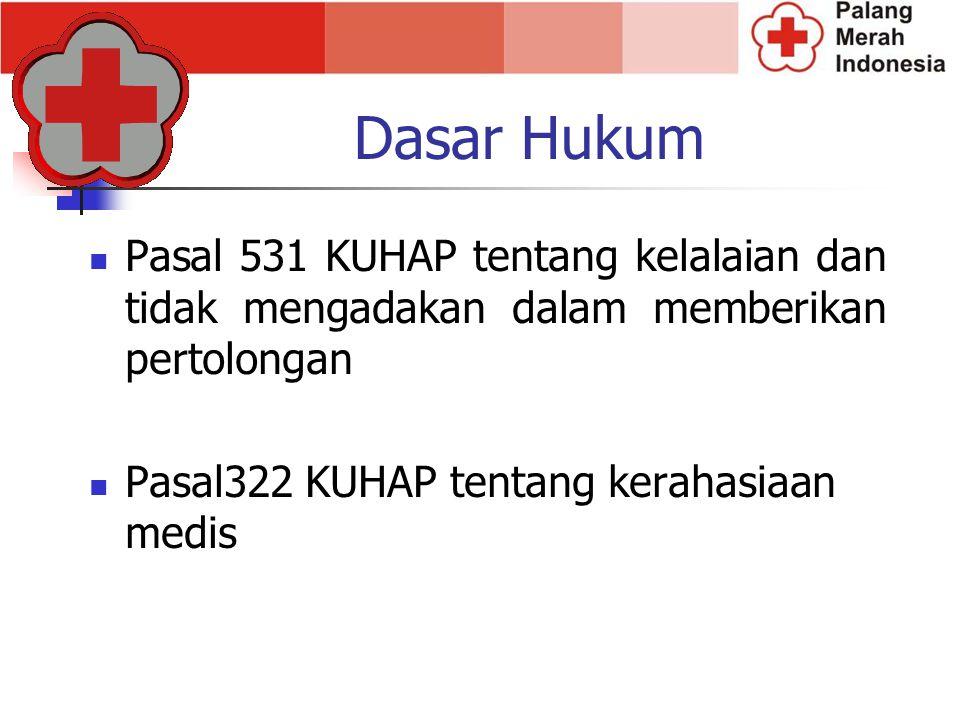 Dasar Hukum Pasal 531 KUHAP tentang kelalaian dan tidak mengadakan dalam memberikan pertolongan.