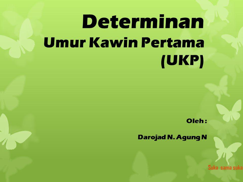 Determinan Umur Kawin Pertama (UKP)