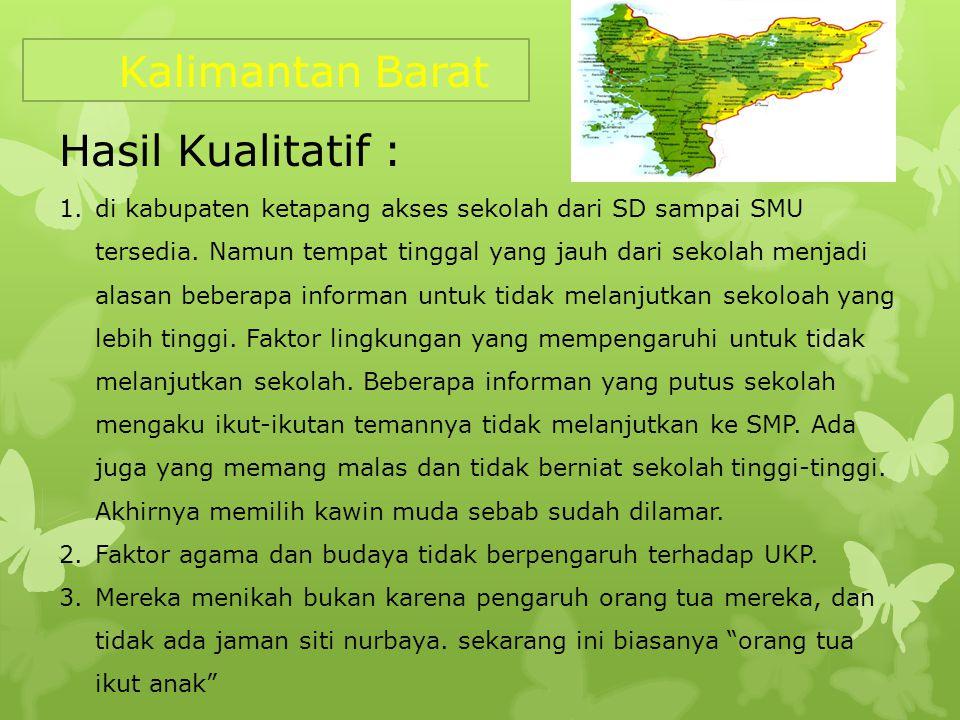Kalimantan Barat Hasil Kualitatif :
