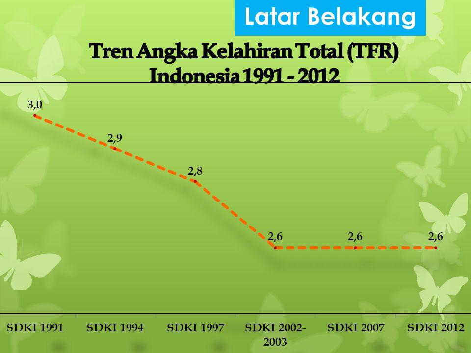 Tren Angka Kelahiran Total (TFR) Indonesia 1991 - 2012
