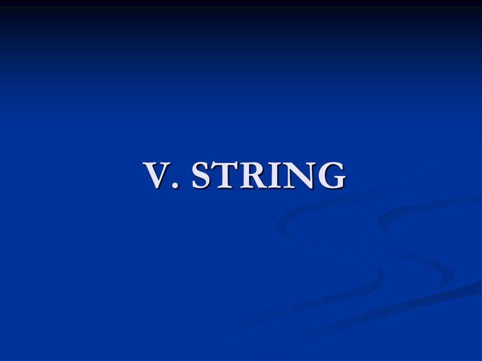 V. STRING