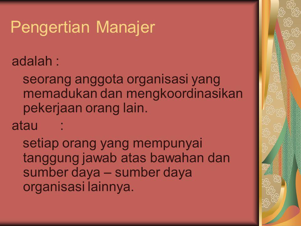 Pengertian Manajer adalah :