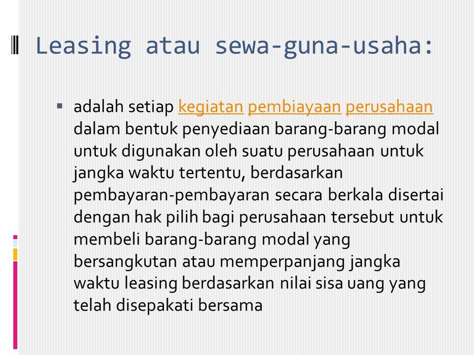 Leasing atau sewa-guna-usaha: