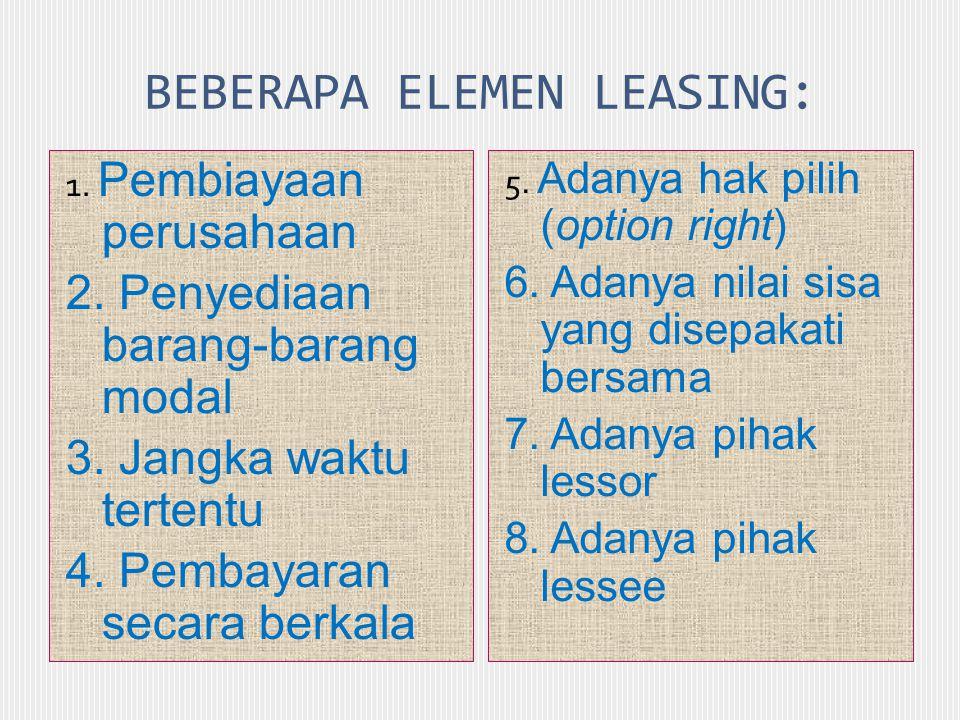 BEBERAPA ELEMEN LEASING:
