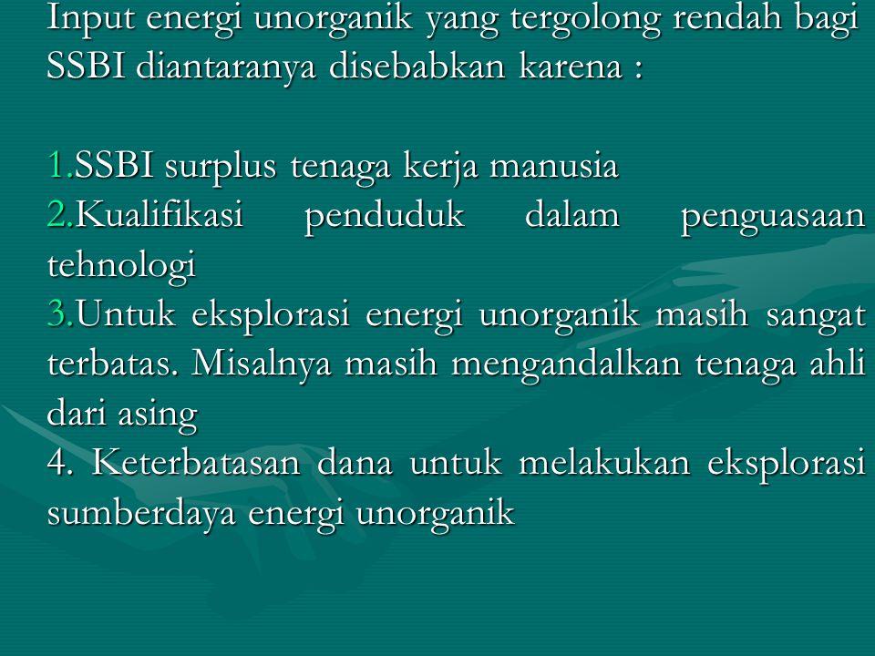 SSBI surplus tenaga kerja manusia