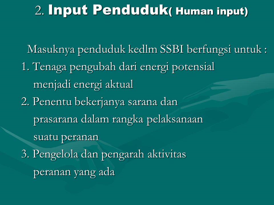 2. Input Penduduk( Human input)