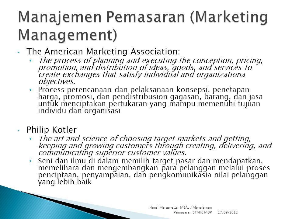 Manajemen Pemasaran (Marketing Management)