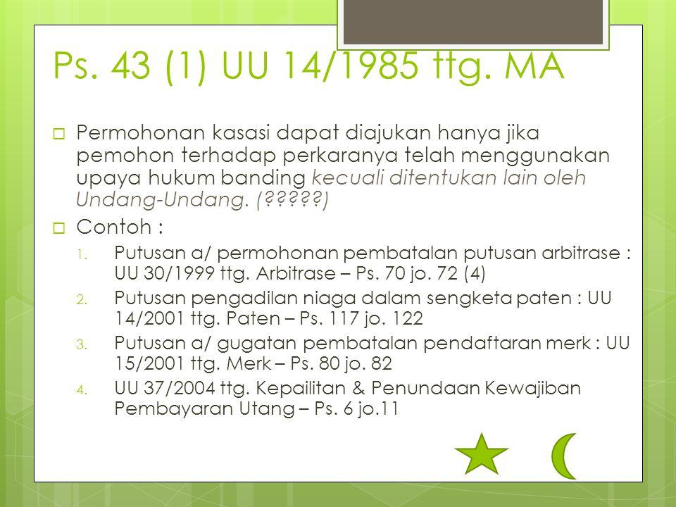 Ps. 43 (1) UU 14/1985 ttg. MA