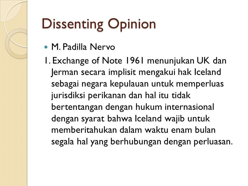 Dissenting Opinion M. Padilla Nervo