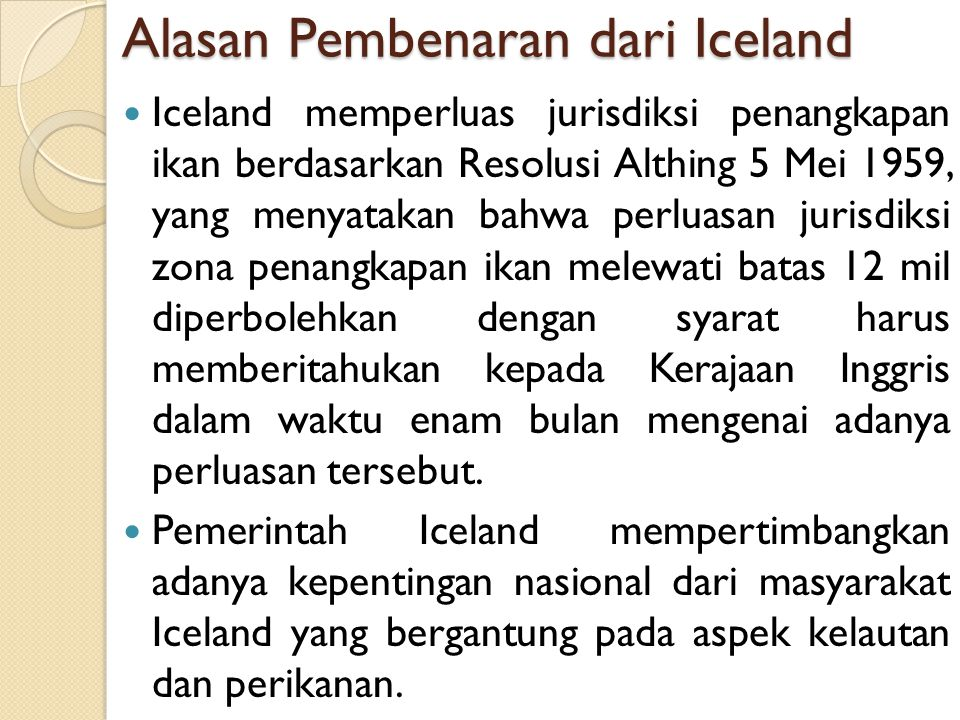 Alasan Pembenaran dari Iceland