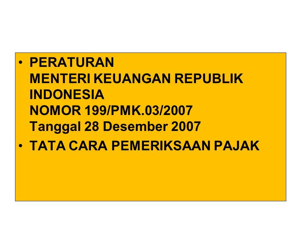 PERATURAN MENTERI KEUANGAN REPUBLIK INDONESIA NOMOR 199/PMK