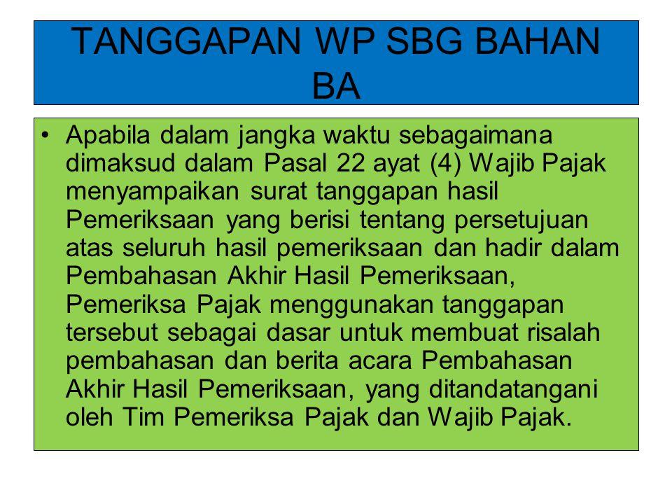 TANGGAPAN WP SBG BAHAN BA