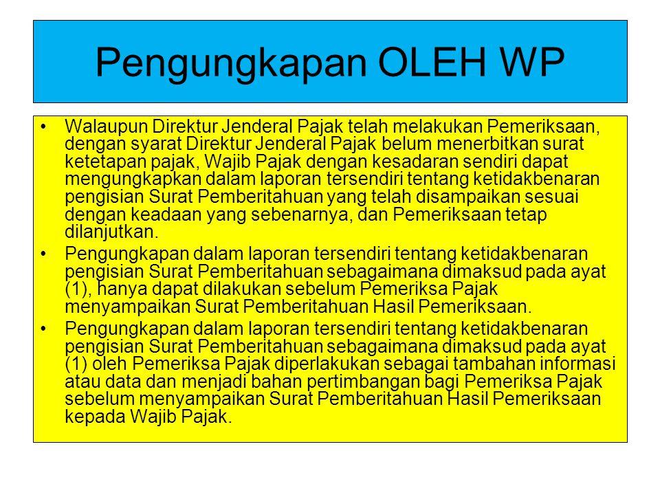 Pengungkapan OLEH WP