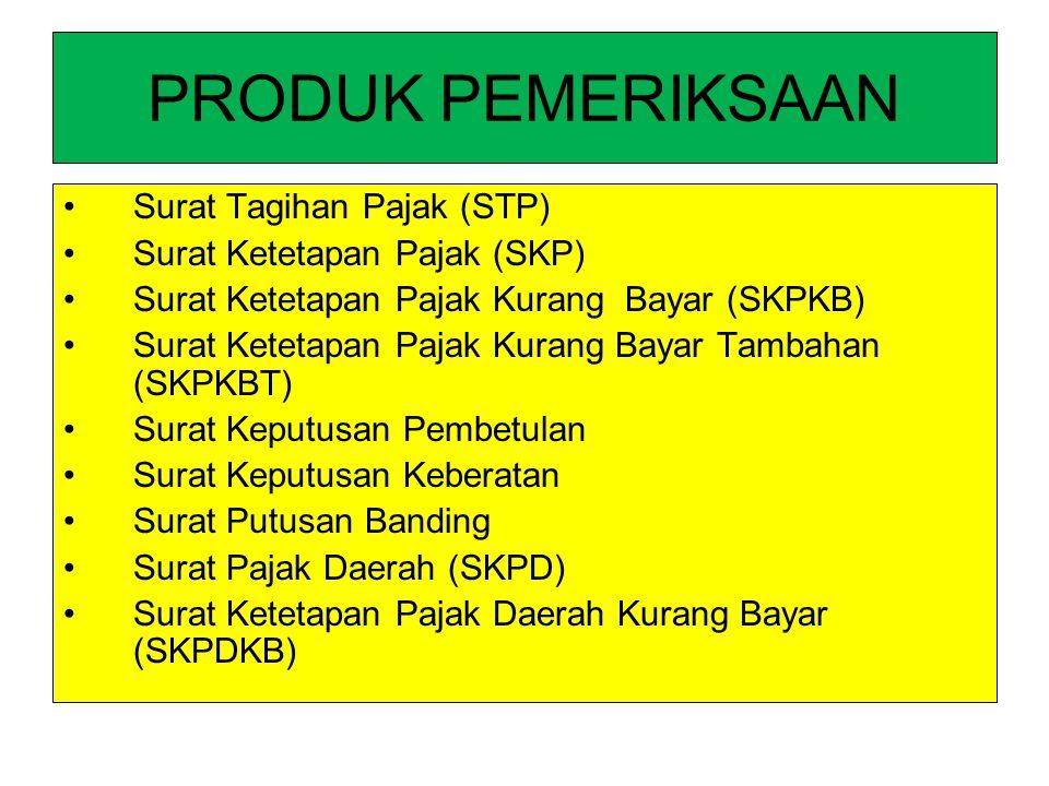 PRODUK PEMERIKSAAN Surat Tagihan Pajak (STP)