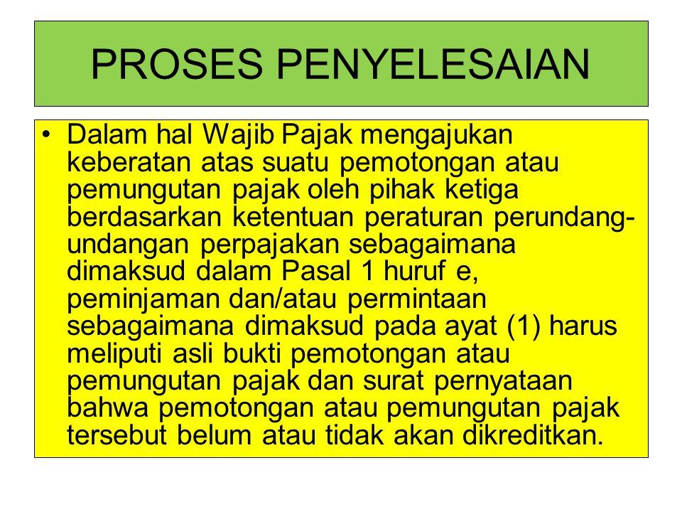 PROSES PENYELESAIAN