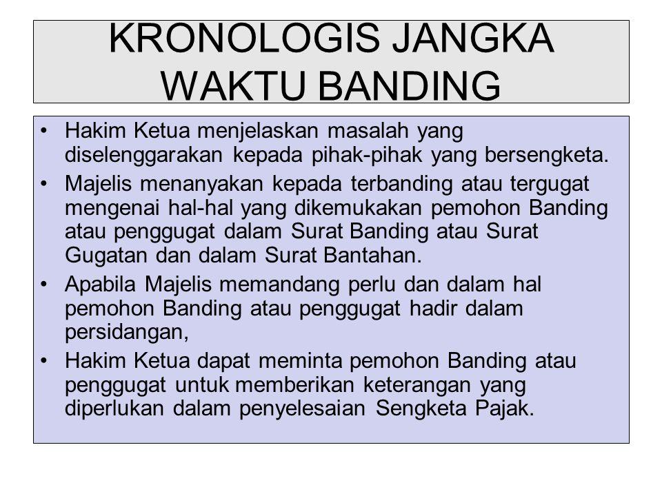 KRONOLOGIS JANGKA WAKTU BANDING